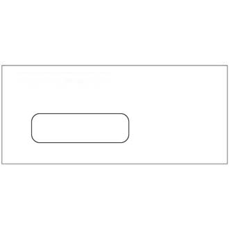 Window Business Envelope, #10, White, 500/Box